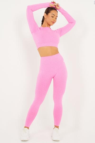 Pink Seamless High Waist Leggings